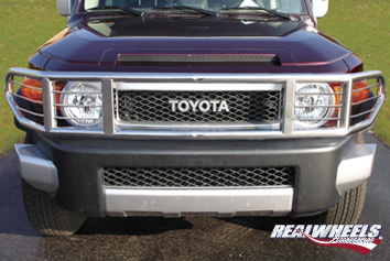 Real Wheels S. S. Wrap Around Brush Guard With Inserts