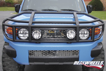 Real Wheels Over-the-Top, Wrap Around Brush Guard With Inserts
