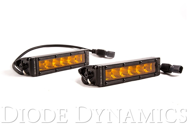 "Diode Dynamics SS6 Stage Series 6"" Amber Light Bar (pair)"