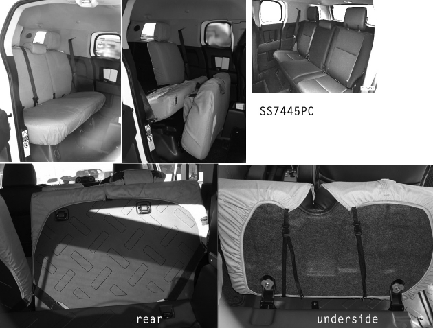 Covercraft SeatSaver REAR Seat Protector - Charcoal