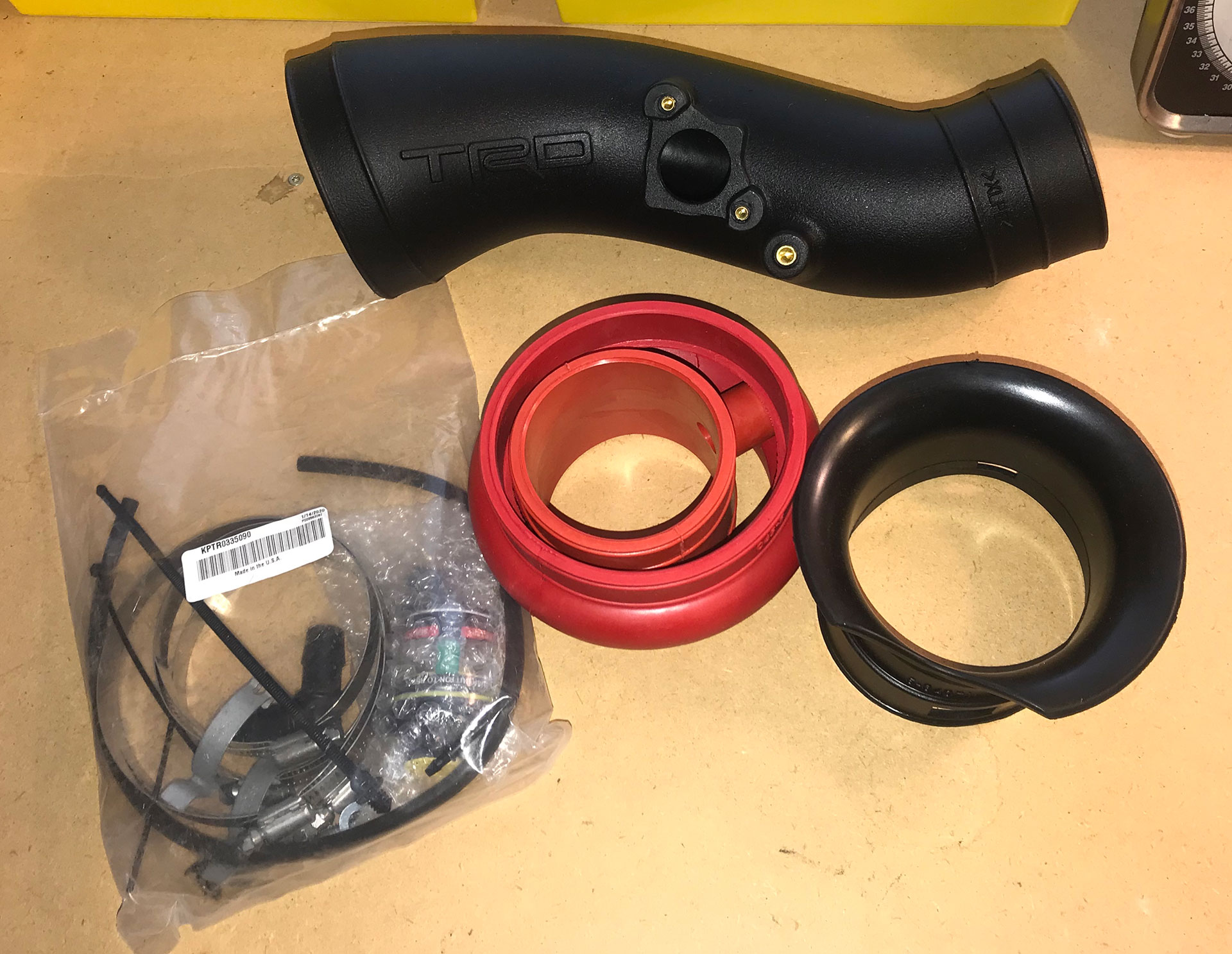 TRD Cold Air Intake Tube and Hardware