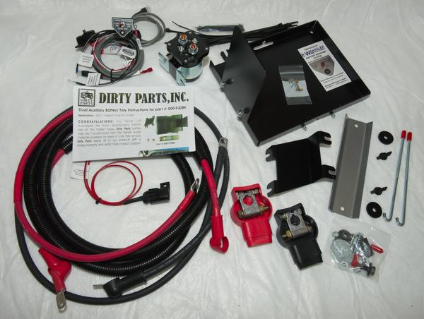 DIRTY PARTS DUAL BATTERY KIT 2007+ FJ CRUISER