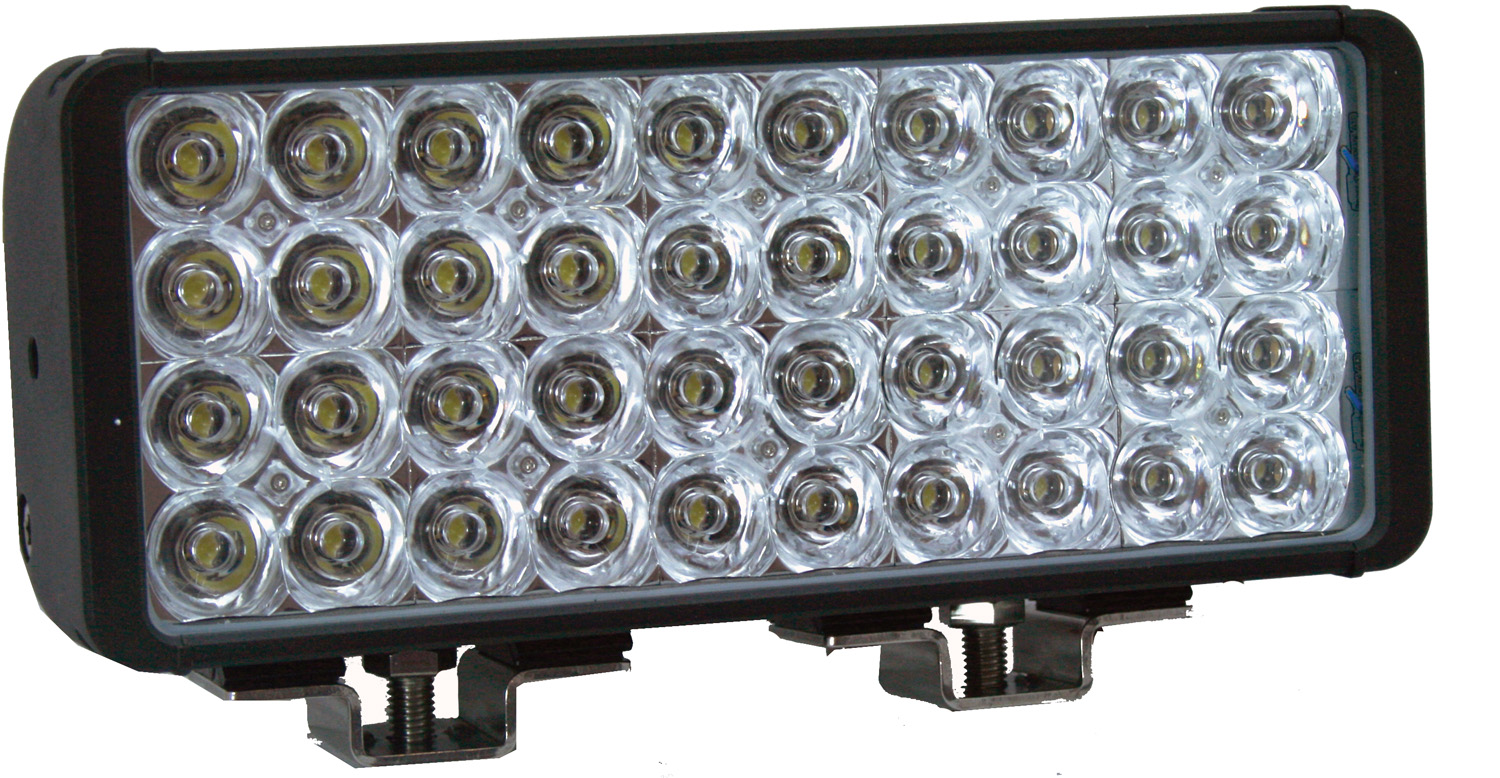 "12"" XMITTER DOUBLE BAR BLACK 40 3W LED'S FLOOD"