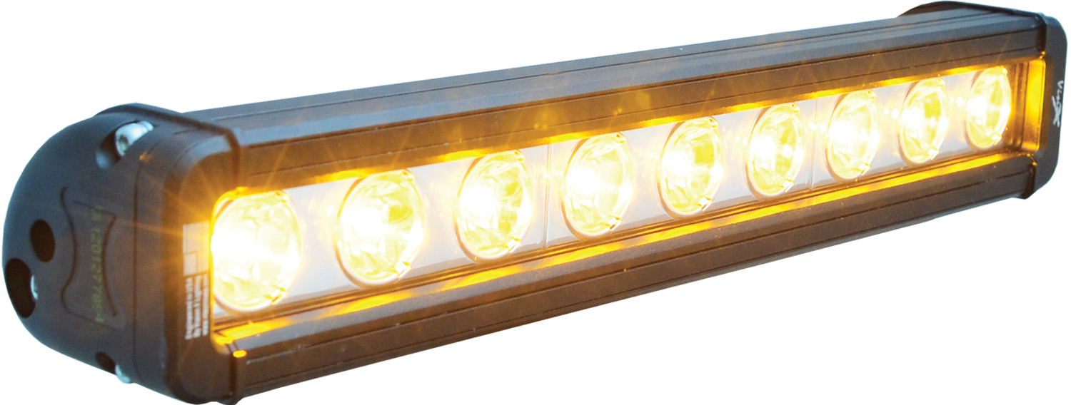 "12"" XMITTER LOW PROFILE BLACK 9 3W AMBER LED'S 10ç NARROW"
