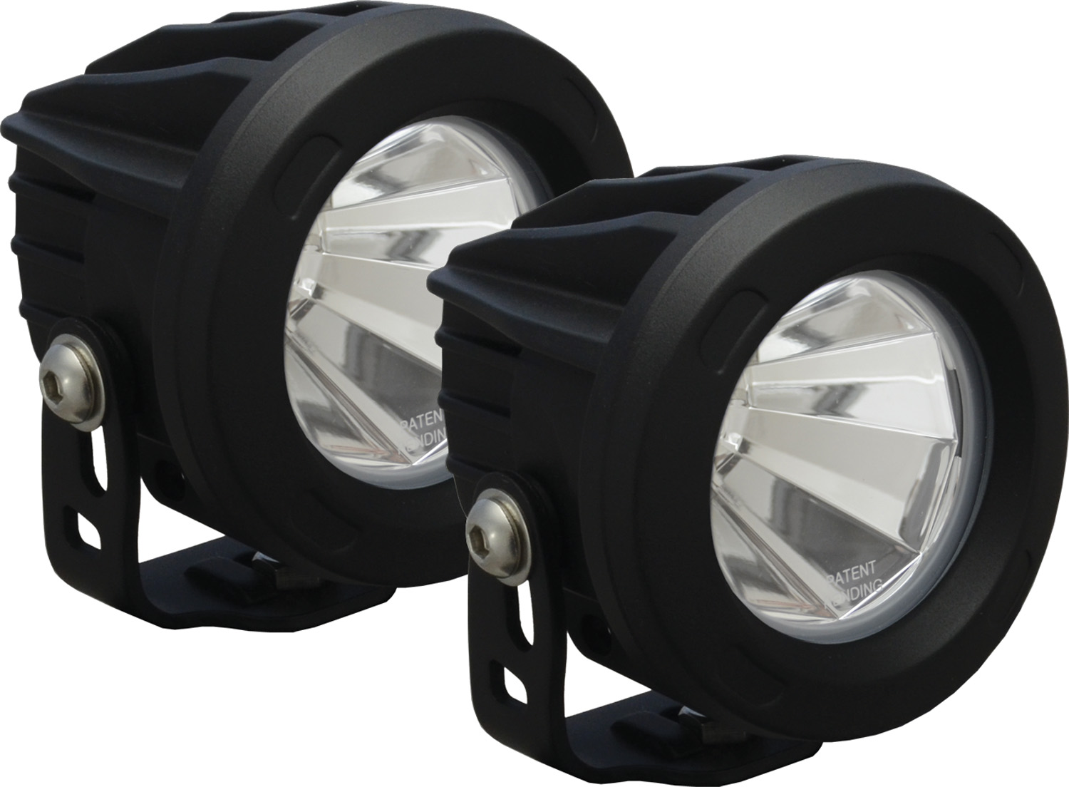 OPTIMUS ROUND BLACK 1 10W LED 60ç FLOOD KIT OF 2 LIGHTS
