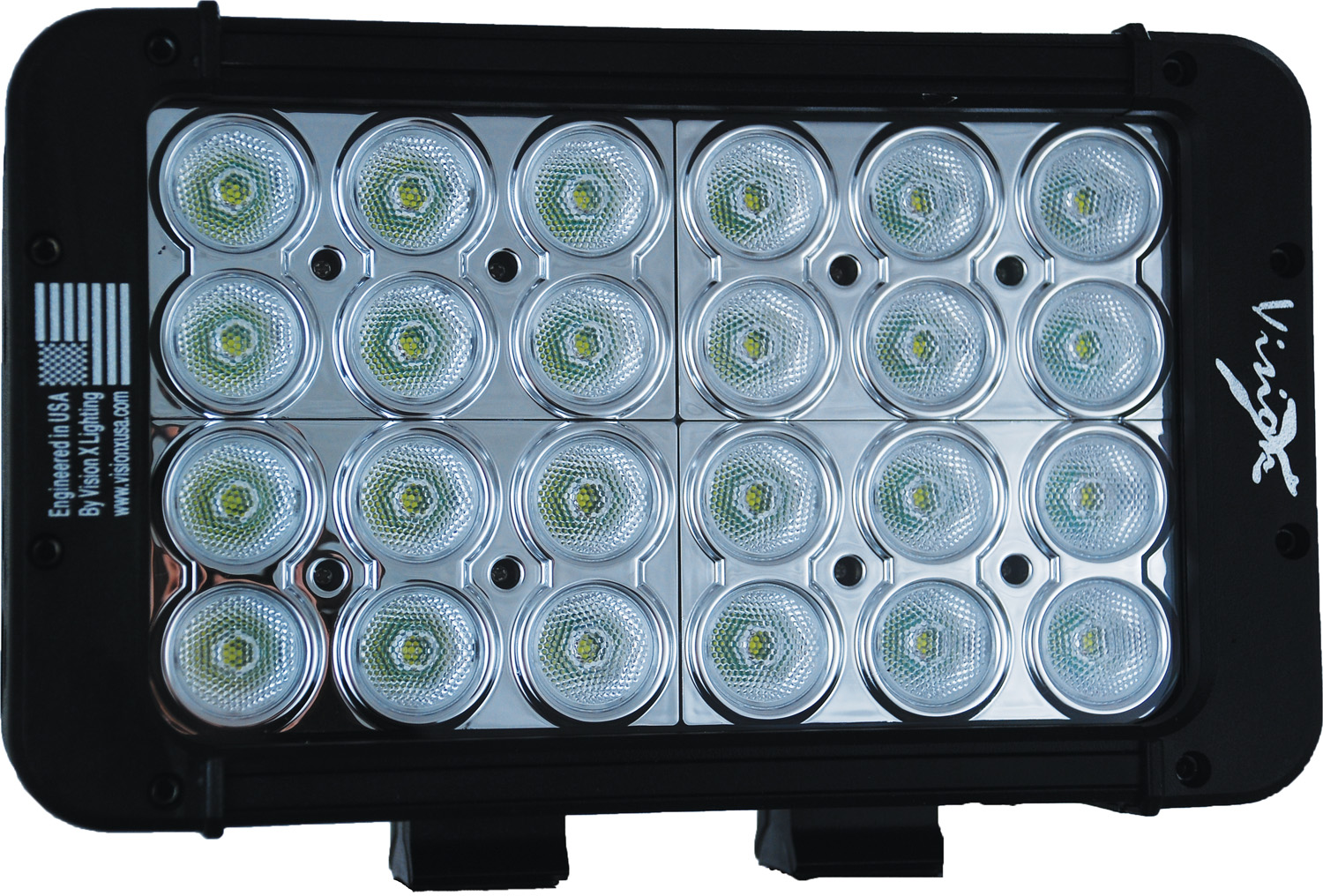 "8"" XMITTER PRIME DOUBLE STACK LED BAR BLACK TWENTY FOUR 3-WATT LED'S 40 DEGREE WIDE BEAM"