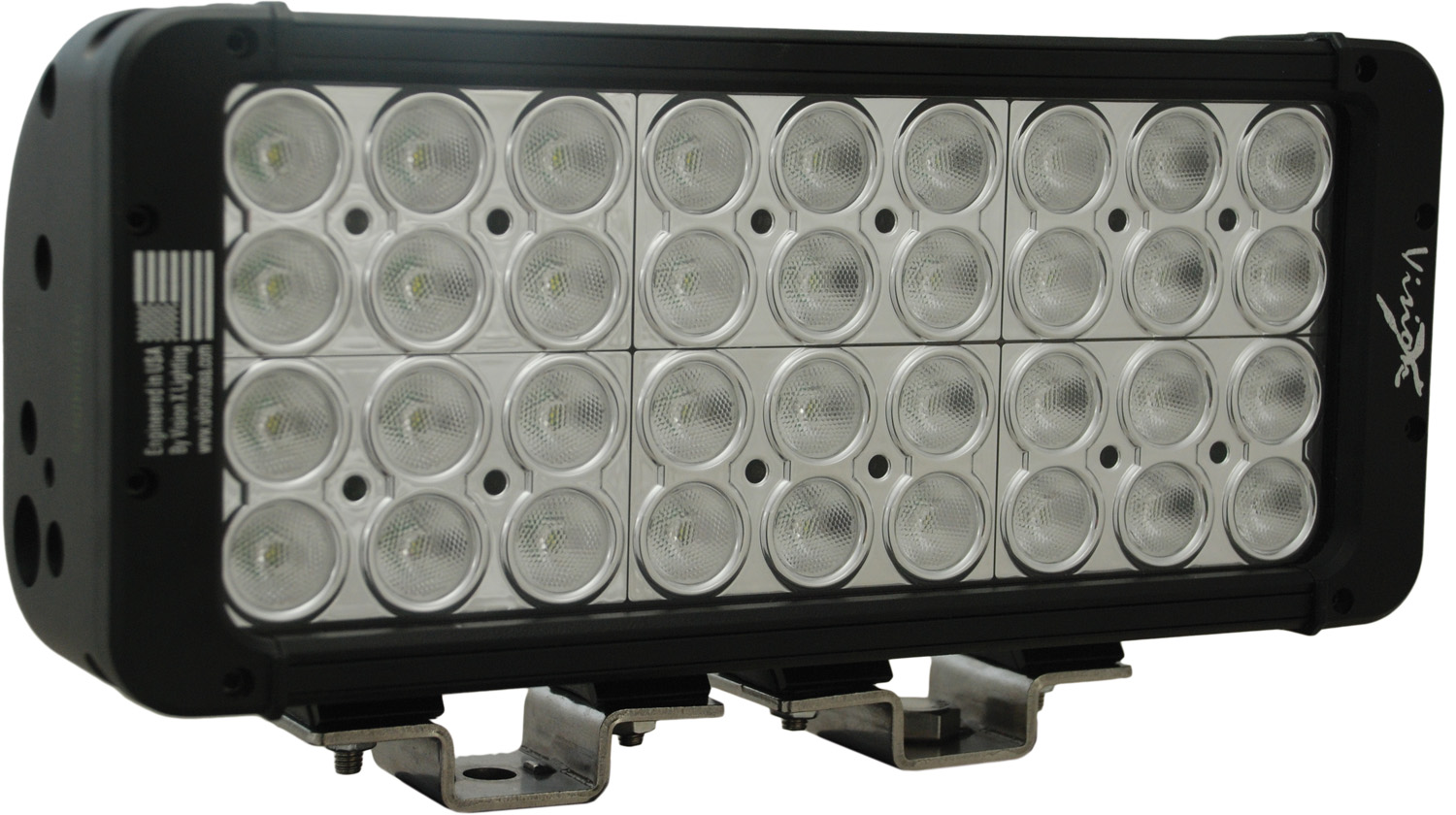 "11"" XMITTER PRIME DOUBLE STACK LED BAR BLACK THIRTY SIX 3-WATT LED'S 40 DEGREE WIDE BEAM"