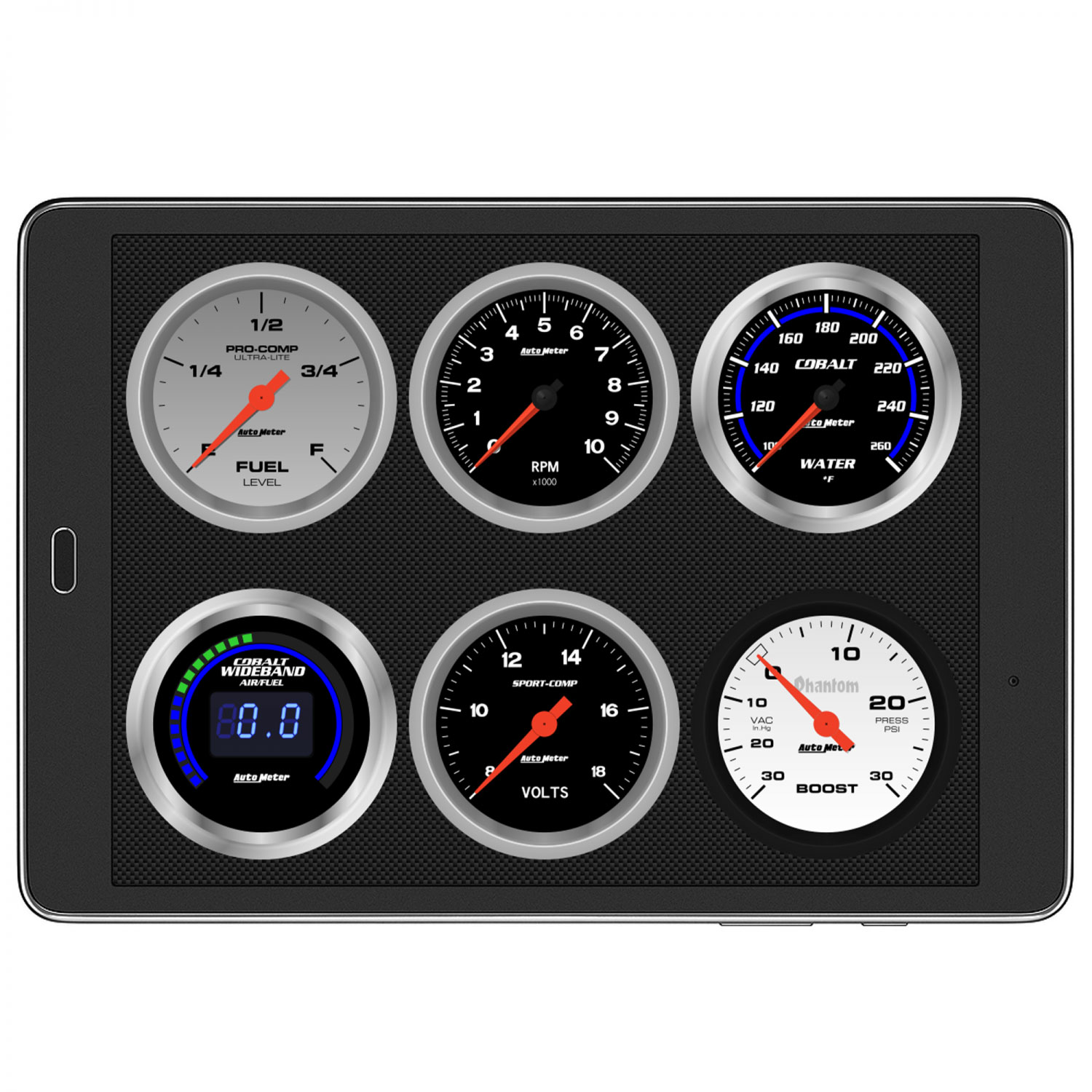 Autometer Dashlink II, OBDII Digital Gauges