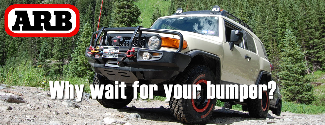 ARB Bumpers are in stock and ready for shipment!
