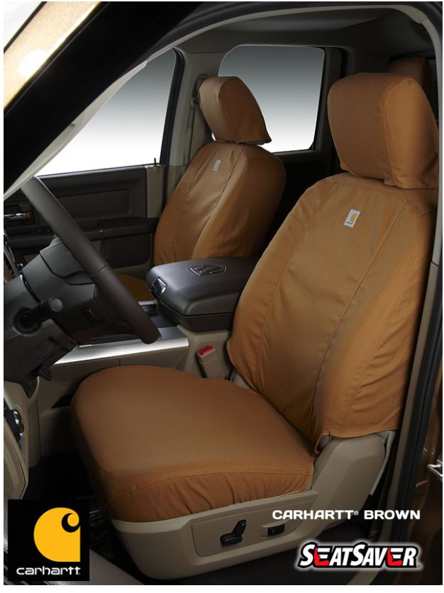 Carhartt Front Bucket Seat Covers - Brown