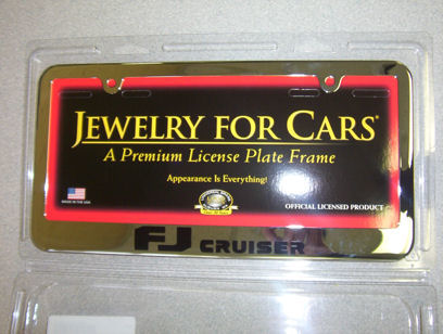 FJ Cruiser Chrome plated license plate frame