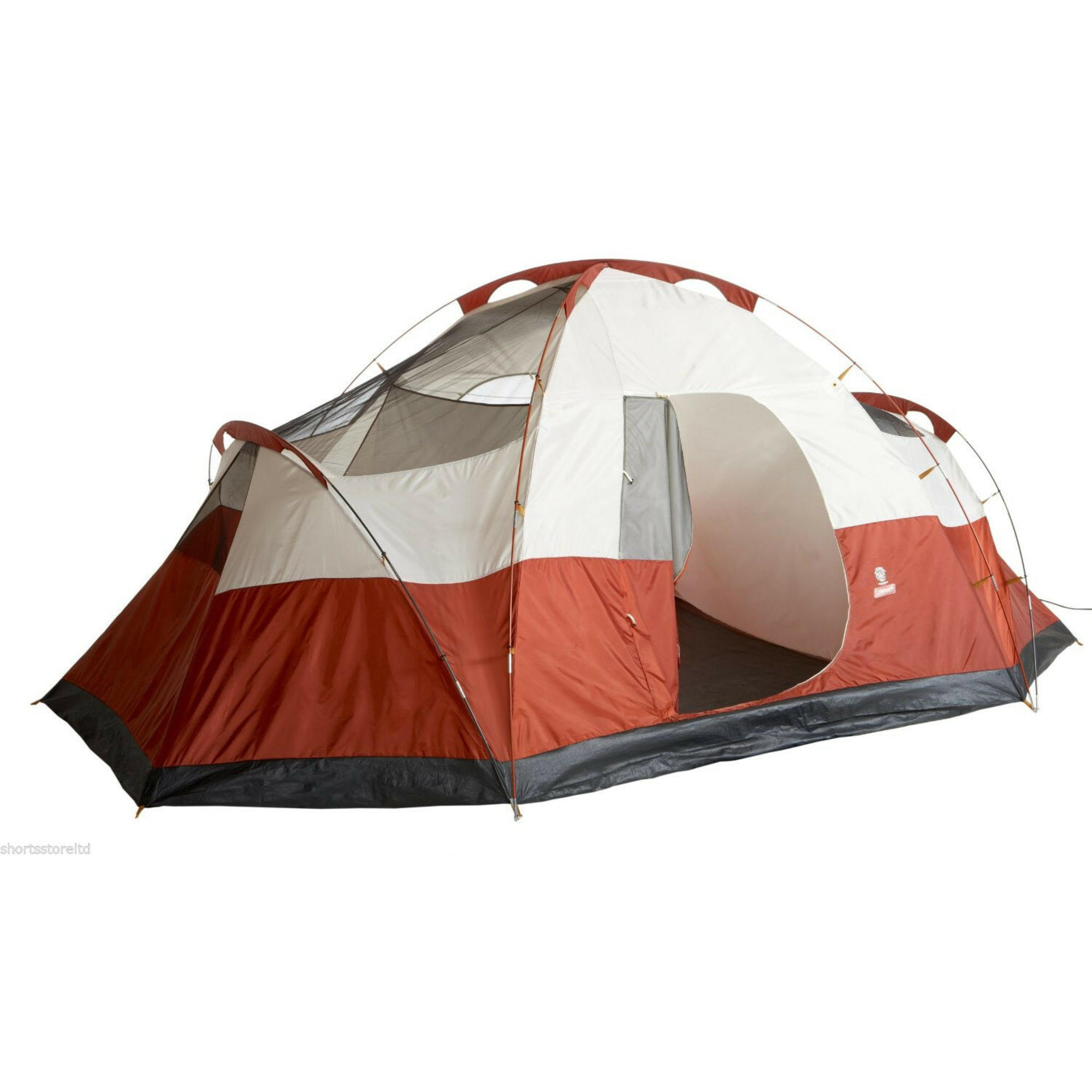 Coleman Canyon 8-person Outdoor Camping Tent, Red