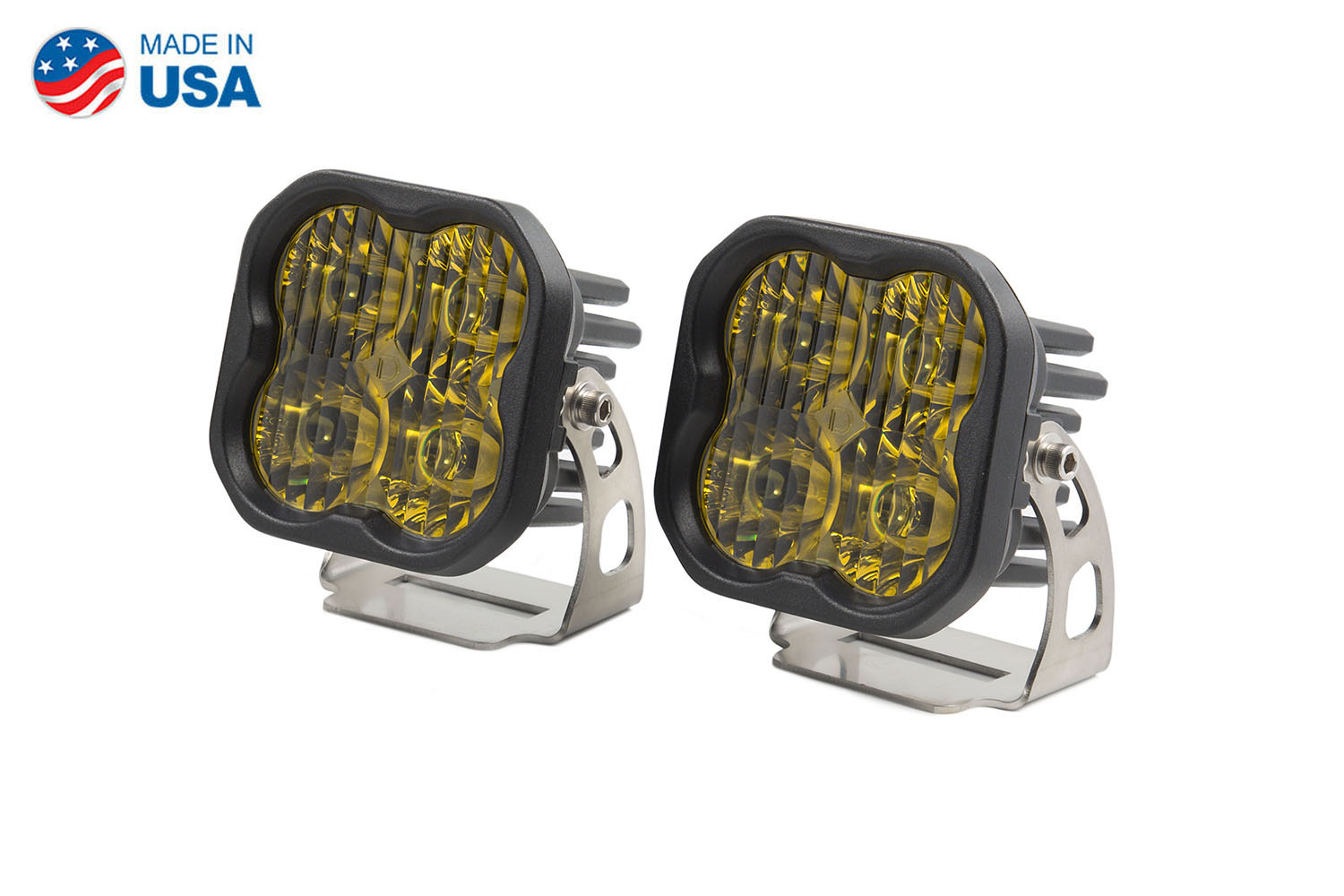Diode Dynamics Worklight SS3 Pro Yellow Driving Standard (pair)