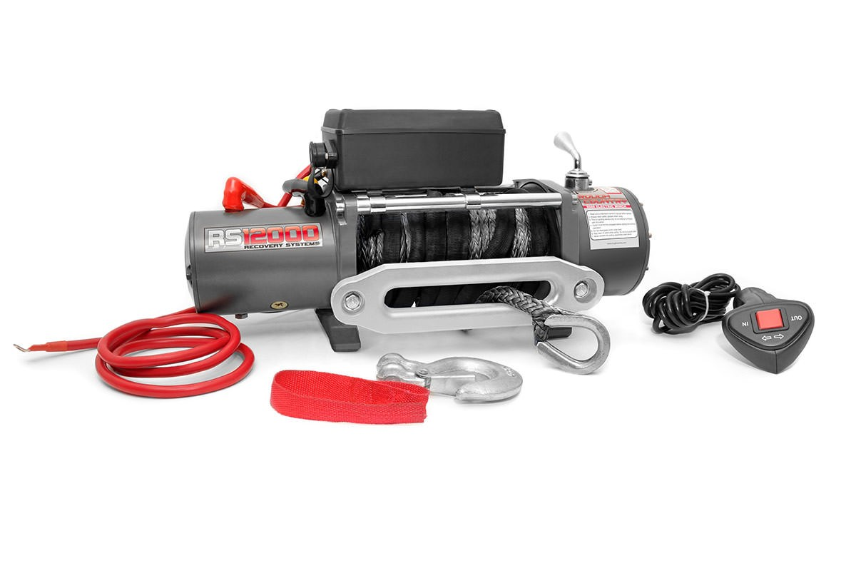 Rough Country 12000 Lb Electric Winch (Synthetic)