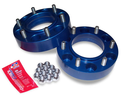 "SpiderTrax 1.25"" Thick Wheel Spacers - BLUE"