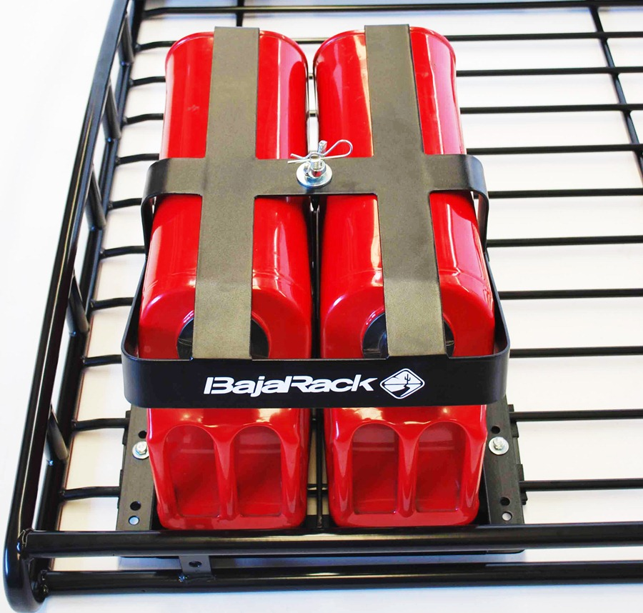 Baja Rack Fuel Can Holder For Two 5 Gal Cans Br Fch2 0