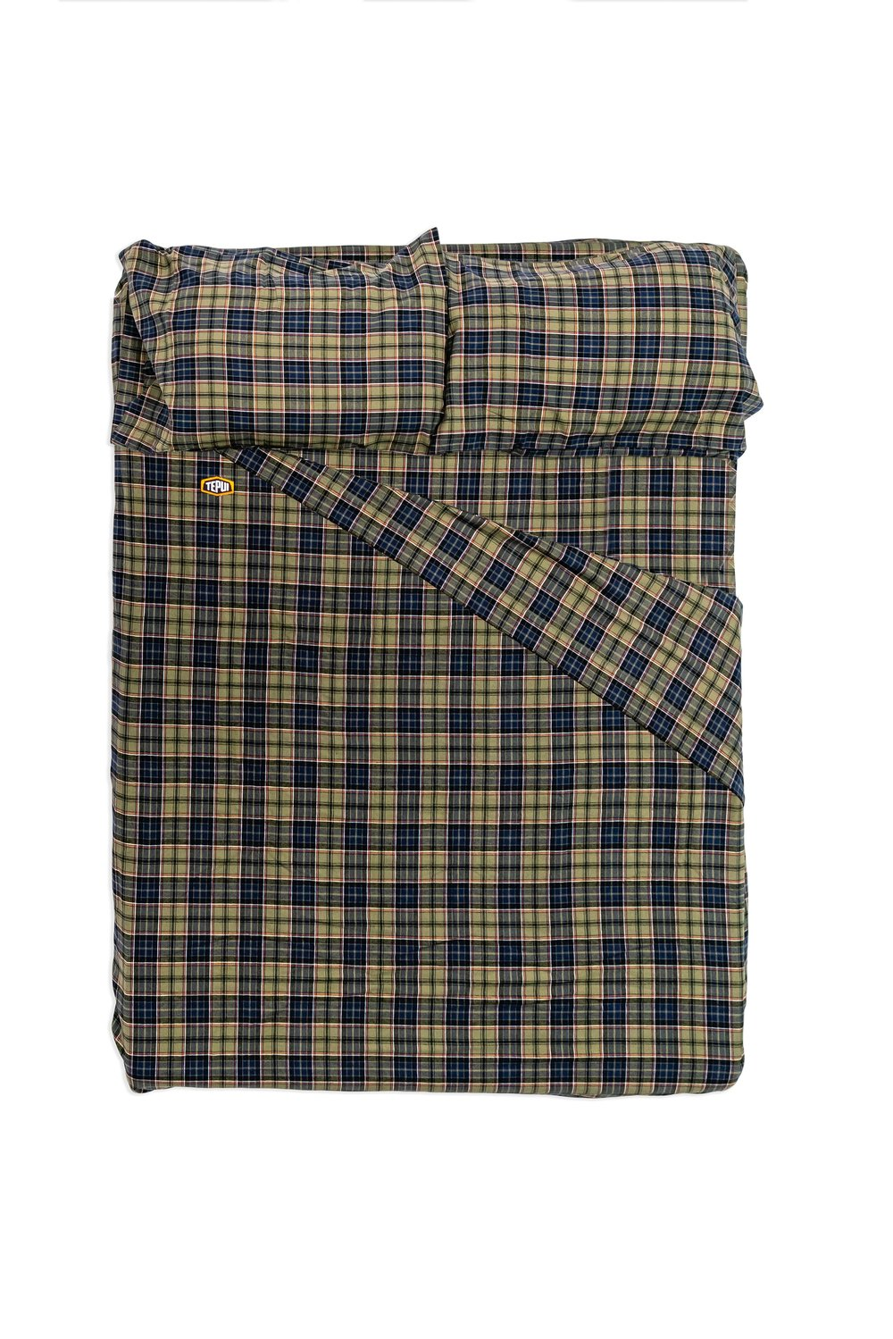 Tepui Flannel Fitted Sheets; Blue-Green Plaid; Universal Fit; Ships Free