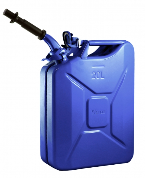 Wavian Blue 5.3 Gallon Steel Fuel Can