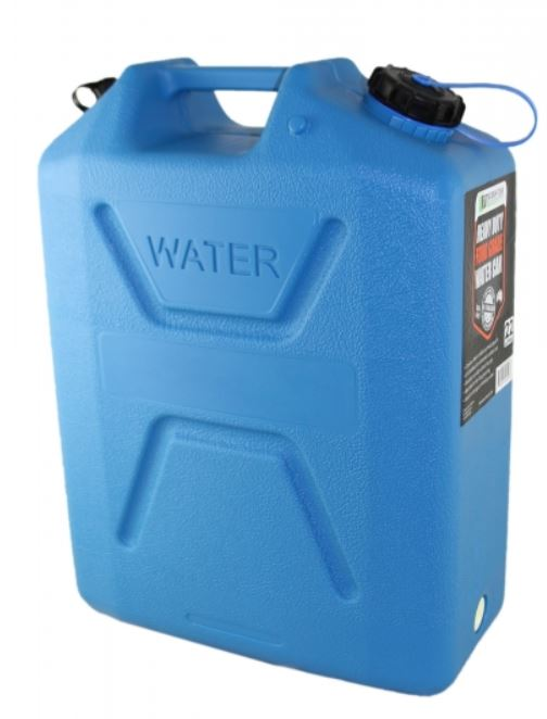 Wavian Heavy Duty Plastic 5 Gallon Water Can Blue (4 Pack)
