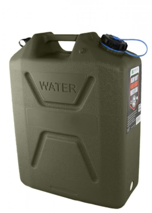 Wavian Heavy Duty Plastic 5 Gallon Water Can OD (4 Pack)