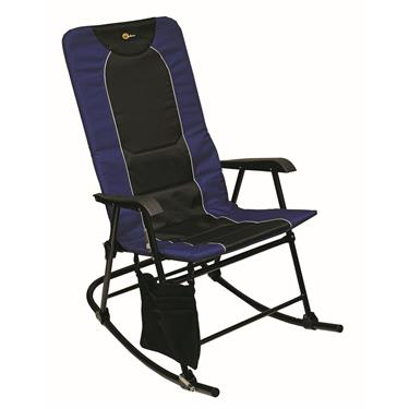 Faulkner Dakota Rocking Chair 42.1in x 24 in x 35.8 (300 lb. capacity) - Blue/Black