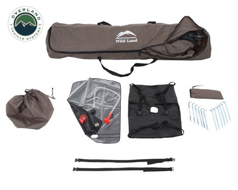 Overland Vehicle Systems Camp Shower w/ Shower Head and Heated Water Bag