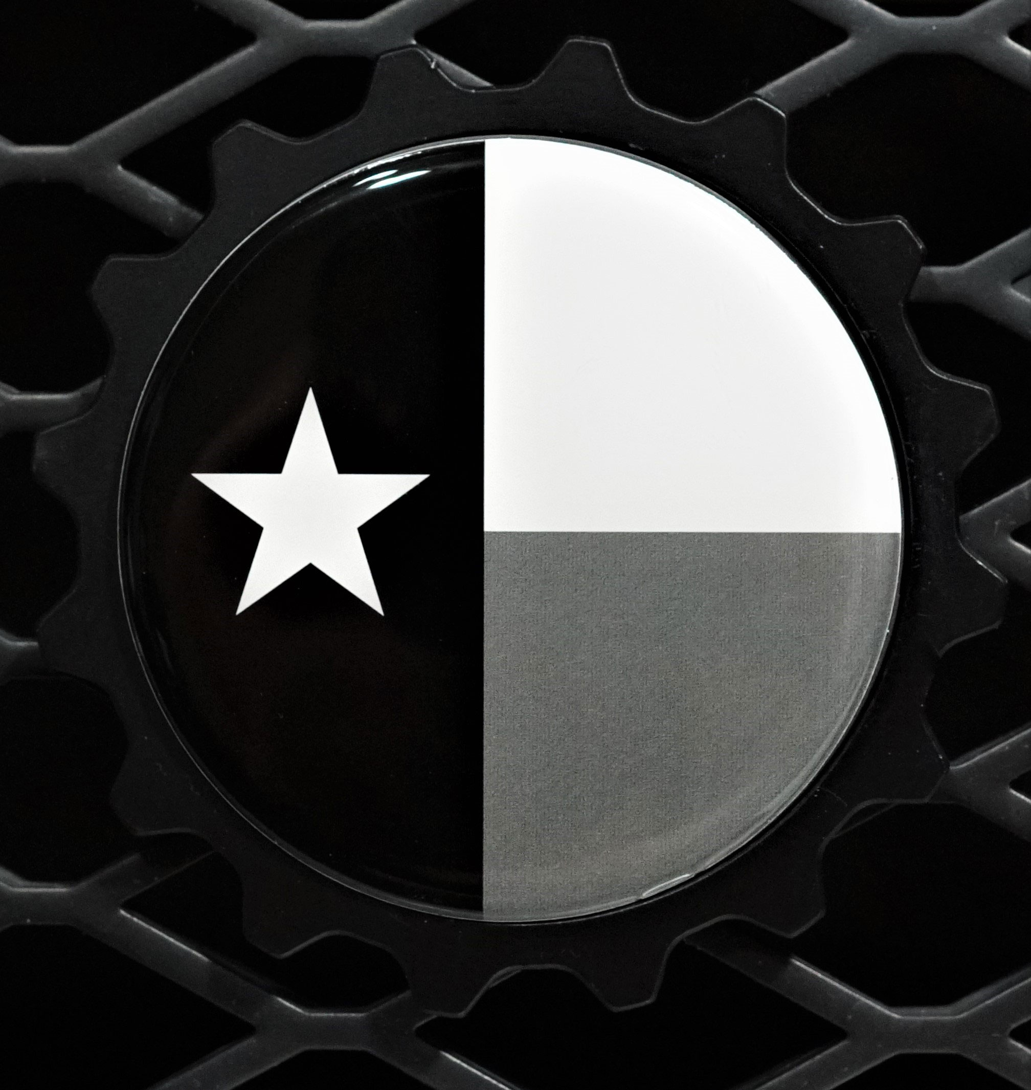 Texas Flag Mono Badge