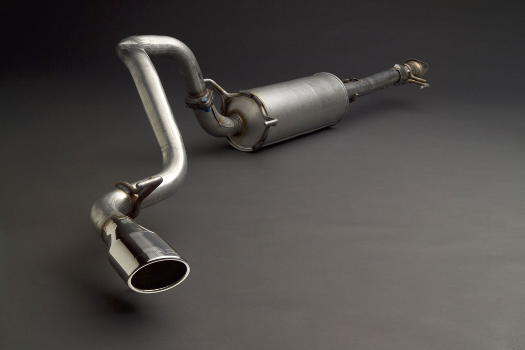 07-14 Toyota FJ Cruiser TRD Cat-Back Exhaust System w/ Chrome Tip