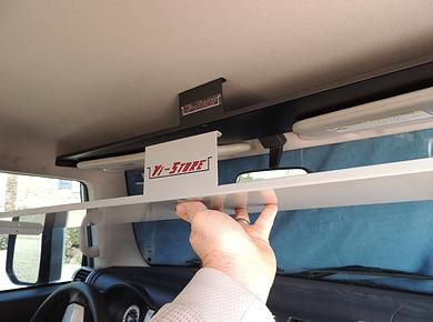 Fj Cruiser Above Visor Storage Shelf Black Fj Vistore